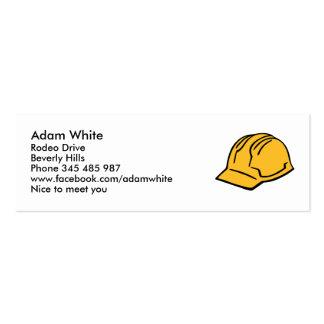 Hard hat construction helmet business card templates