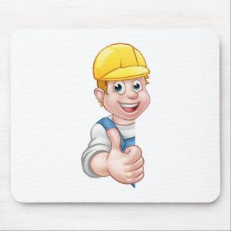 Hard Hat Handyman Carpenter Mechanic or Plumber Mouse Pad