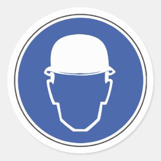 Hard Hat Required Safety Sticker
