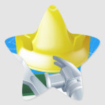 Hard hat tools and blueprint star stickers