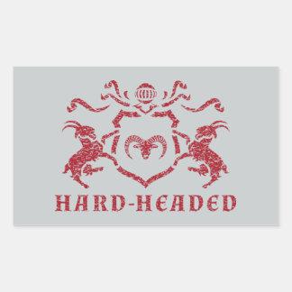 Hard-Headed Heraldic Goat Rectangle Sticker
