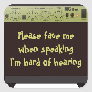 Hard of Hearing Amp Stickers