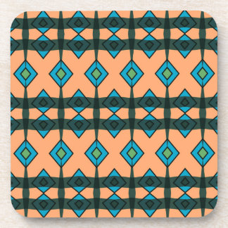 Hard Plastic Coasters with Southwestern Design