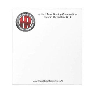 Hard Reset Stationary Notepad