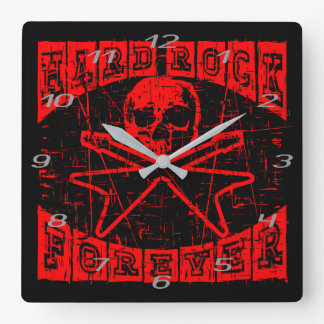 hard rock forever square wall clock