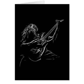 Hard Rock Heavy Metal Art Guitarist Birthday Card