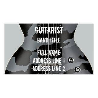 Hard Rock/Metal Musician Business Card Templates