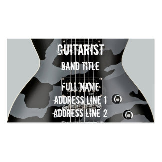 Hard Rock/Metal Musician Pack Of Standard Business Cards