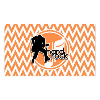Hard Rock; Orange and White Chevron Pack Of Standard Business Cards