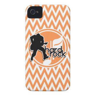 Hard Rock Orange and White Chevron Case-Mate iPhone 4 Cases