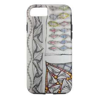 Hard shell plastic exterior/shock absorbing liner. iPhone 8/7 case