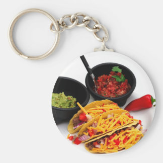 Hard Shell Taco's Basic Round Button Key Ring