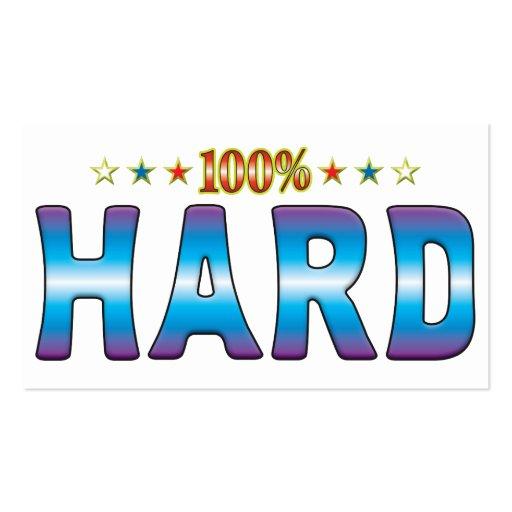 Hard Star Tag v2 Business Card Template