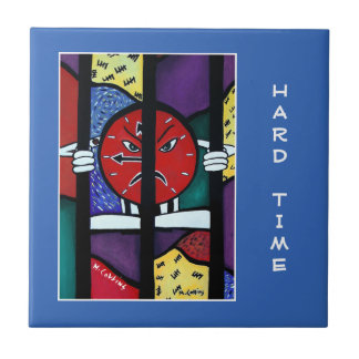 Hard Time  - Blue  - Time Pieces Ceramic Tile