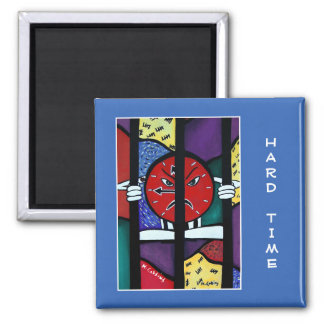 Hard Time On Blue  - Time Pieces Magnet