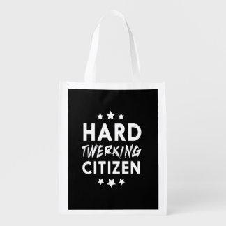 Hard Twerking Citizen Reusable Grocery Bag