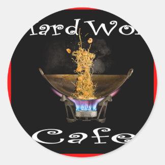 Hard Wok Cafe Thailand Round Sticker
