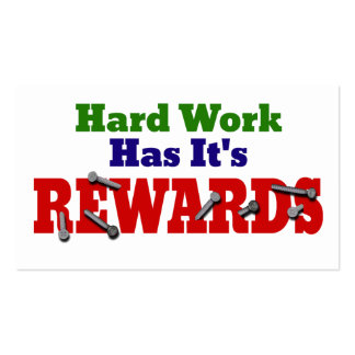 Hard Work Appreciation Pack Of Standard Business Cards