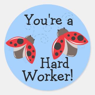 Hard Worker Reward Stickers - Ladybugs