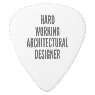 Hard Working Architectural Designer White Delrin Guitar Pick