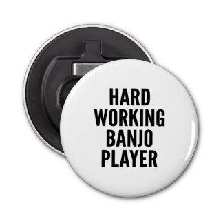 Hard Working Banjo Player Bottle Opener
