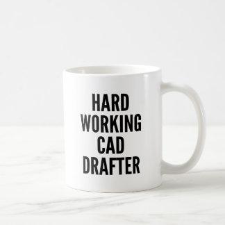 Hard Working CAD Drafter Basic White Mug