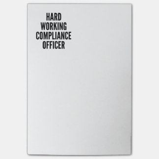 Hard Working Compliance Officer Post-it Notes