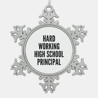 Hard Working High School Principal Ornaments