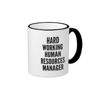 Hard Working Human Resources Manager Ringer Mug