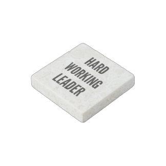 Hard Working Leader Stone Magnet