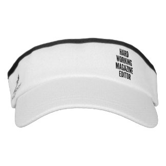 Hard Working Magazine Editor Visor
