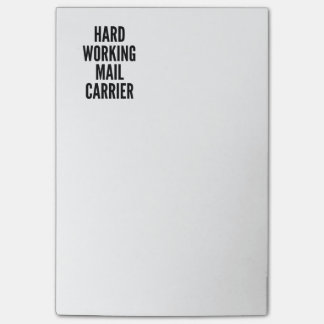 Hard Working Mail Carrier Post-it® Notes
