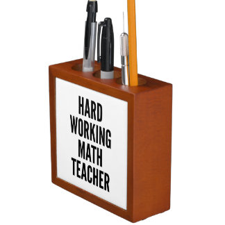 Hard Working Math Teacher Desk Organiser
