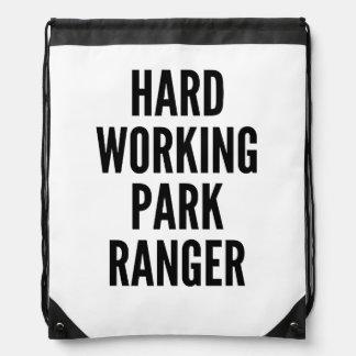 Hard Working Park Ranger Drawstring Bag