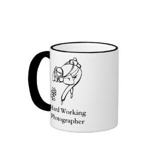 Hard Working Photographer Ringer Coffee Mug