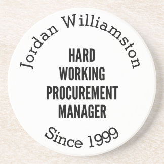 Hard Working Procurement Manager Coaster