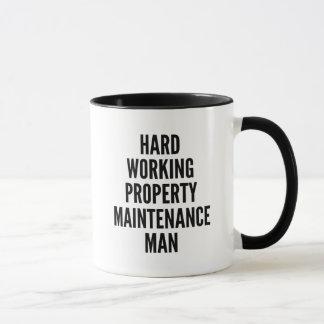 Hard Working Property Maintenance Man Mug