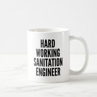 Hard Working Sanitation Engineer Coffee Mug