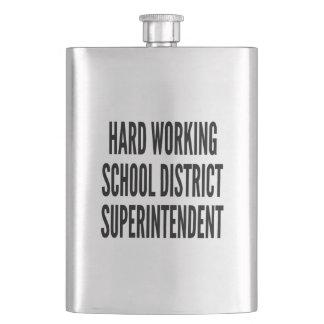 Hard Working School District Superintendent Hip Flask