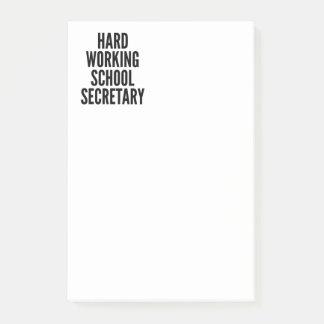 Hard Working School Secretary Post-it Notes