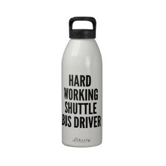 Hard Working Shuttle Bus Driver Water Bottle