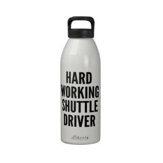 Hard Working Shuttle Driver Drinking Bottle
