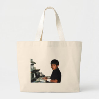 Hardcore Coder with Wristband Large Tote Bag