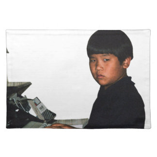 Hardcore Coder with Wristband Placemat