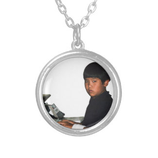 Hardcore Coder with Wristband Silver Plated Necklace