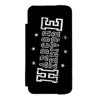 Hardcore Herbivore (wht) Incipio Watson™ iPhone 5 Wallet Case