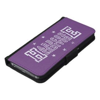 Hardcore Herbivore (wht) Samsung Galaxy S6 Wallet Case