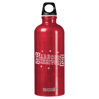 Hardcore Herbivore (wht) Water Bottle