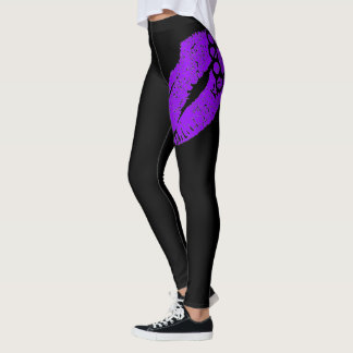 Hardcore Hottie Leggings Lips (purple)