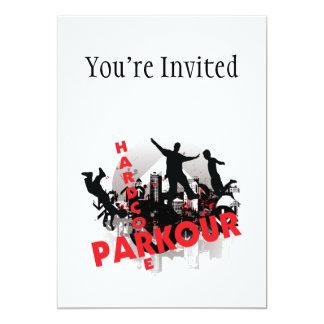 Hardcore Parkour Grunge City Card